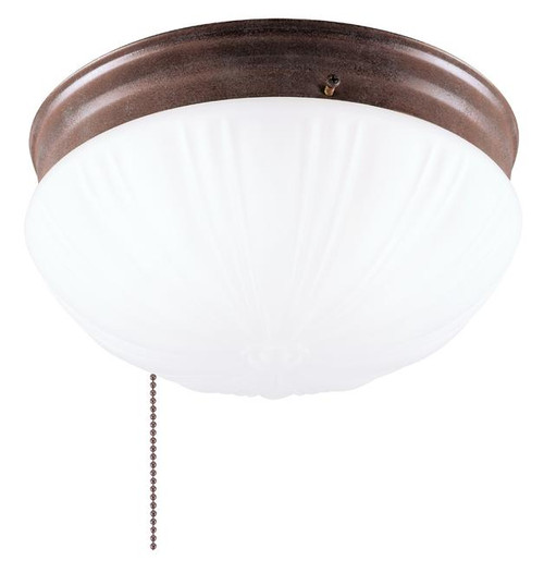 Westinghouse 6720200 Two-Light Indoor Flush-Mount Ceiling Fixture with Pull Chain