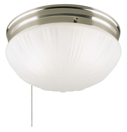 Westinghouse 6721000 Two-Light Indoor Flush-Mount Ceiling Fixture with Pull Chain