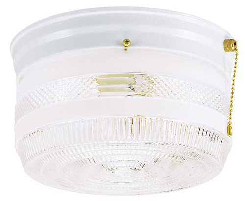 Westinghouse 6734500 Two-Light Indoor Flush-Mount Ceiling Fixture with Pull Chain