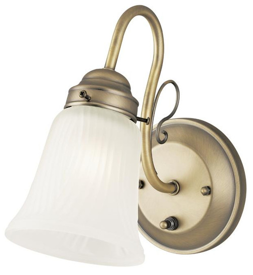 Westinghouse 6751400 One-Light Indoor Wall Fixture with On/Off Switch