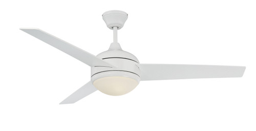 "Concord Fans 52SKY3EWH 52"" Skylark 3 Blade Ceiling Fan with Light Kit in White"