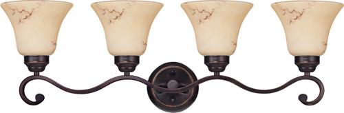 NUVO Lighting 60/1415 Anastasia 4 Light Vanity with Honey Marble Glass