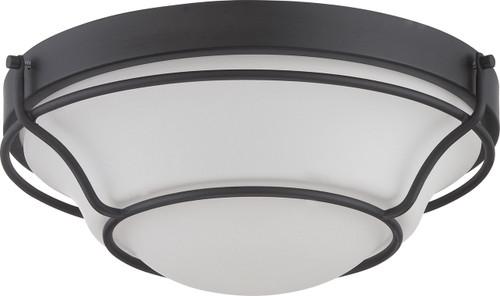 NUVO Lighting 62/528 Baker LED Flushmount Fixture with Satin White Glass