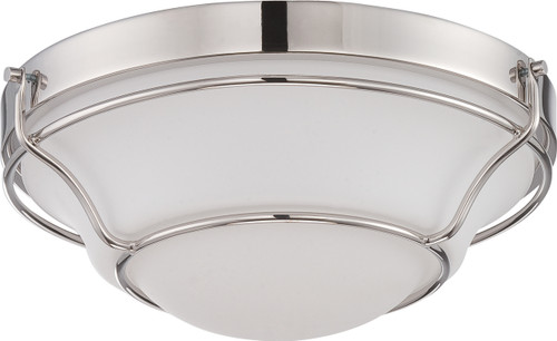 NUVO Lighting 62/529 Baker LED Flushmount Fixture with Satin White Glass