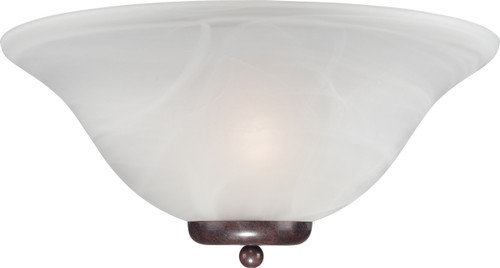 NUVO Lighting 60/5378 Ballerina 1 Light Wall Sconce Old Bronze with Alabaster Glass