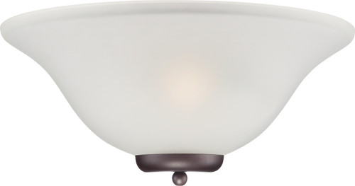 NUVO Lighting 60/5379 Ballerina 1 Light Wall Sconce Mahogany Bronze with Frosted Glass