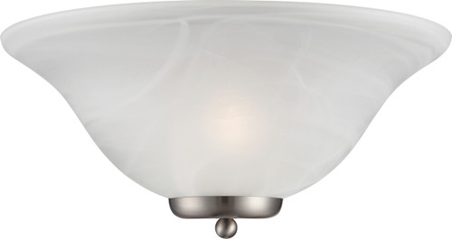NUVO Lighting 60/5381 Ballerina 1 Light Wall Sconce Brushed Nickel with Alabaster Glass