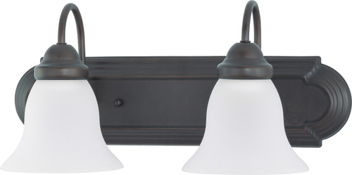 """NUVO Lighting 60/3161 Ballerina 2 Light 18"""" Vanity with Frosted White Glass"""
