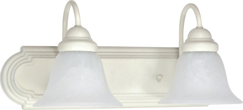 """NUVO Lighting 60/332 Ballerina 2 Light 18"""" Vanity with Alabaster Glass Bell Shades"""