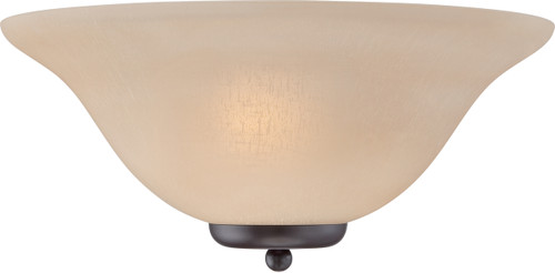 NUVO Lighting 60/5384 Ballerina 1 Light Wall Sconce Mahogany Bronze with Champagne Linen Glass