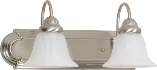 """NUVO Lighting 60/320 Ballerina 2 Light 18"""" Vanity with Alabaster Glass Bell Shades"""