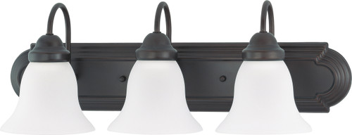 """NUVO Lighting 60/3162 Ballerina 3 Light 24"""" Vanity with Frosted White Glass"""