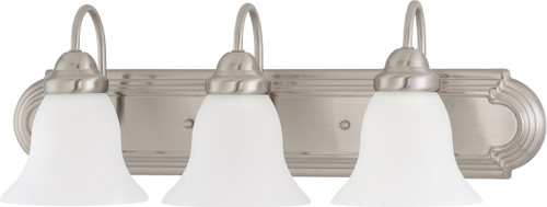 """NUVO Lighting 60/3279 Ballerina 3 Light 24"""" Vanity with Frosted White Glass"""