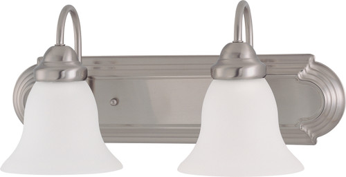 """NUVO Lighting 60/3322 Ballerina ES 2 Light 18"""" Vanity with Frosted White Glass (2) 13W GU24 (Bulbs Included)"""