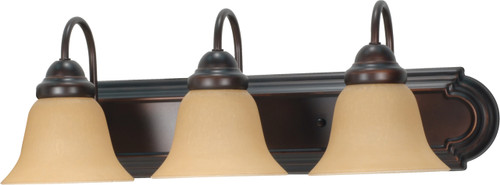 """NUVO Lighting 60/1265 Ballerina 3 Light 24"""" Vanity with Champagne Linen Washed Glass"""