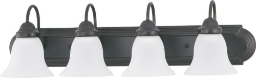 """NUVO Lighting 60/3163 Ballerina 4 Light 30"""" Vanity with Frosted White Glass"""