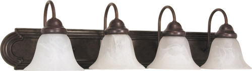 """NUVO Lighting 60/326 Ballerina 4 Light 30"""" Vanity with Alabaster Glass Bell Shades"""