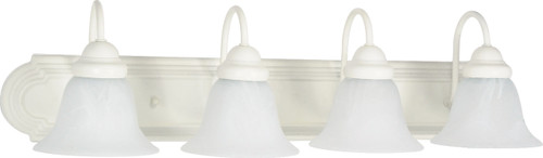 """NUVO Lighting 60/334 Ballerina 4 Light 30"""" Vanity with Alabaster Glass Bell Shades"""