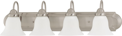 """NUVO Lighting 60/3281 Ballerina 4 Light 30"""" Vanity with Frosted White Glass"""