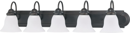 """NUVO Lighting 60/3164 Ballerina 5 Light 36"""" Vanity with Frosted White Glass"""