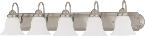 """NUVO Lighting 60/3282 Ballerina 5 Light 36"""" Vanity with Frosted White Glass"""