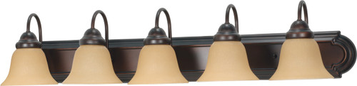 """NUVO Lighting 60/1267 Ballerina 5 Light 36"""" Vanity with Champagne Linen Washed Glass"""