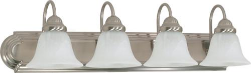 "NUVO Lighting 60/3211 Ballerina ES 4 Light 30"" Vanity with Alabaster Glass (4) 13W GU24 (Bulbs Included)"