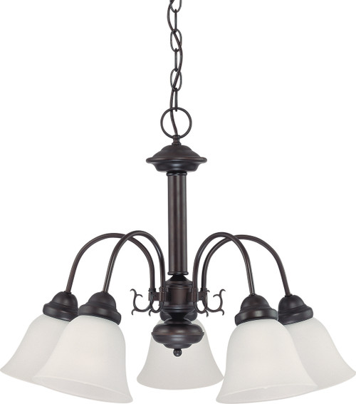 """NUVO Lighting 60/3141 Ballerina 5 Light 24"""" Chandelier with Frosted White Glass"""