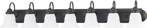 """NUVO Lighting 60/3155 Ballerina 7 Light 48"""" Vanity with Frosted White Glass"""