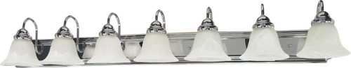 """NUVO Lighting 60/290 Ballerina 7 Light 48"""" Vanity with Alabaster Glass Bell Shades"""