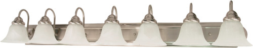 """NUVO Lighting 60/291 Ballerina 7 Light 48"""" Vanity with Alabaster Glass Bell Shades"""