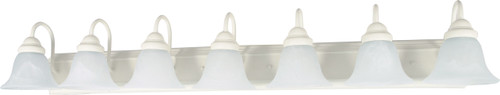 """NUVO Lighting 60/294 Ballerina 7 Light 48"""" Vanity with Alabaster Glass Bell Shades"""