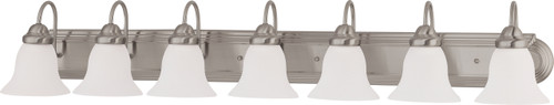 """NUVO Lighting 60/3283 Ballerina 7 Light 48"""" Vanity with Frosted White Glass"""