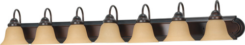 """NUVO Lighting 60/1268 Ballerina 7 Light 48"""" Vanity with Champagne Linen Washed Glass"""