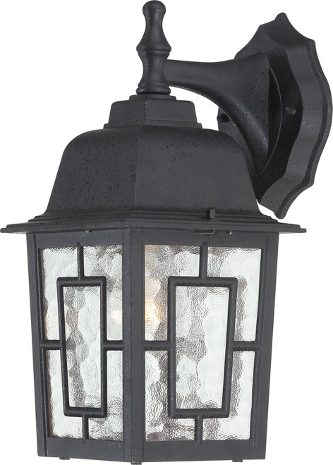 """NUVO Lighting 60/4923 Banyan 1 Light 12"""" Outdoor Wall with Clear Water Glass"""