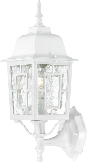 """NUVO Lighting 60/4924 Banyan 1 Light 17"""" Outdoor Wall with Clear Water Glass"""