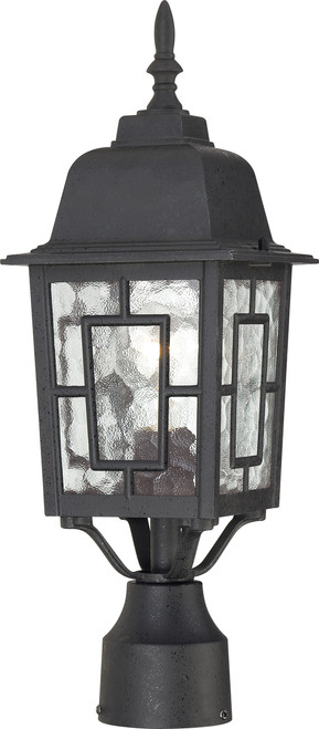 """NUVO Lighting 60/4929 Banyan 1 Light 17"""" Outdoor Post with Clear Water Glass"""