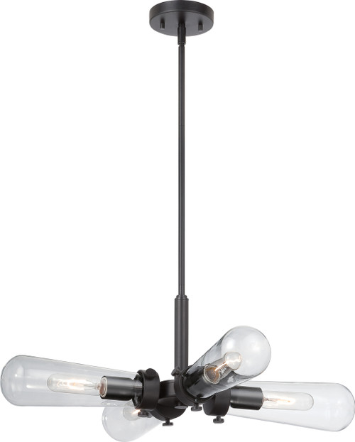 NUVO Lighting 60/5364 Beaker 4 Light Hanging Fixture with Clear Glass (Vintage Bulbs Included)