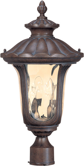 NUVO Lighting 60/2009 Beaumont 2 Light Mid-Size Post Lantern with Amber Water Glass