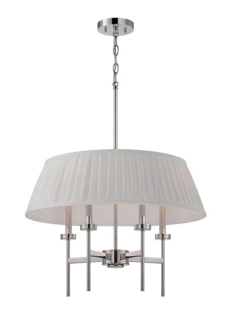 NUVO Lighting 60/5218 Benson 4 Light Pendant with White Fabric Shade
