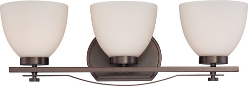 NUVO Lighting 60/5113 Bentley 3 Light Vanity Fixture with Frosted Glass