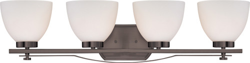 NUVO Lighting 60/5119 Bentley 4 Light Vanity Fixture with Frosted Glass