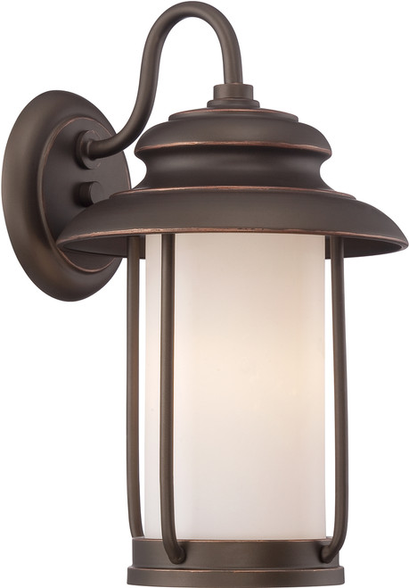 NUVO Lighting 62/631 Bethany LED Outdoor Small Wall with Satin White Glass