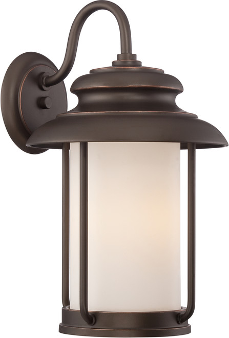 NUVO Lighting 62/632 Bethany LED Outdoor Large Wall with Satin White Glass