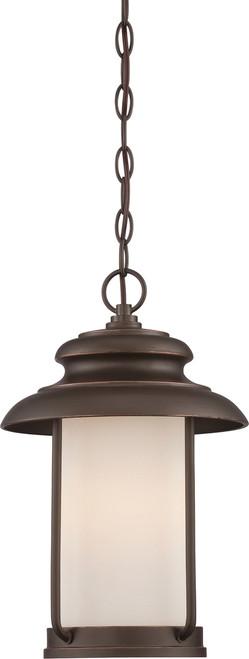NUVO Lighting 62/635 Bethany LED Outdoor Hanging with Satin White Glass