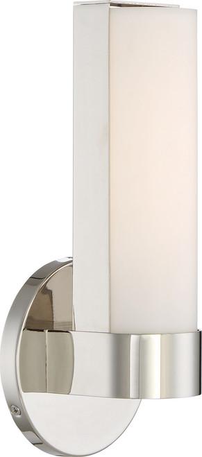 "NUVO Lighting 62/721 Bond Single 9-1/2"" LED Vanity with White Acrylic Lens"