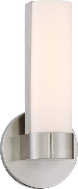 "NUVO Lighting 62/731 Bond Single 9-1/2"" LED Vanity with White Acrylic Lens"