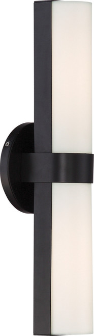 "NUVO Lighting 62/742 Bond Double 17-1/2"" LED Vanity with White Acrylic Lens"
