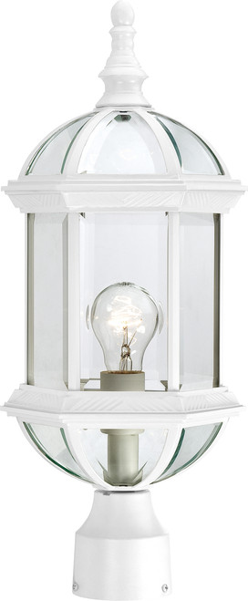"""NUVO Lighting 60/4974 Boxwood 1 Light 19"""" Outdoor Post with Clear Beveled Glass"""