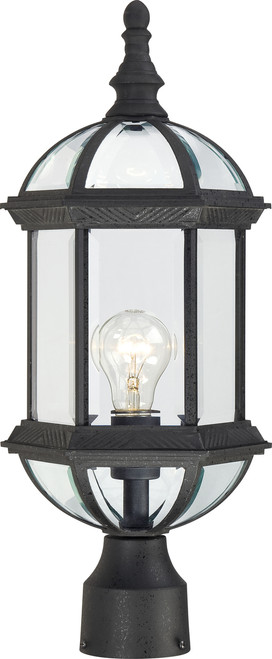 """NUVO Lighting 60/4976 Boxwood 1 Light 19"""" Outdoor Post with Clear Beveled Glass"""